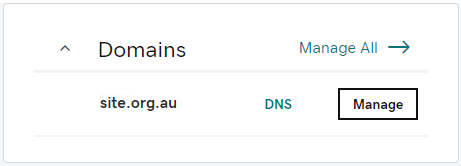 GoDaddy Domains list